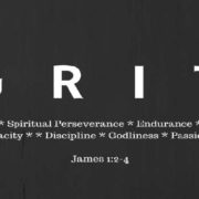 Grit spiritual perserverance